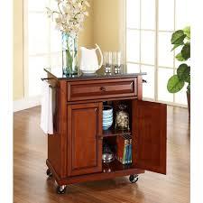 crosley kitchen island crosley furniture kf30024ech solid black granite top portable