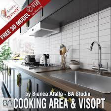 sketchup texture free sketchup model cooking area and vray visopt