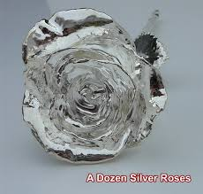silver roses dozen silver roses anniversary gift silver dipped roses