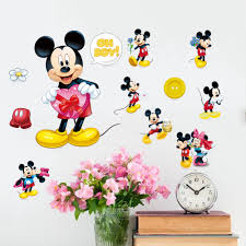 compare prices on minnie mouse wall decor online shopping buy low ddiy lovely mickey minnie mouse cute wall decals sticker home kids room decor mural home decor