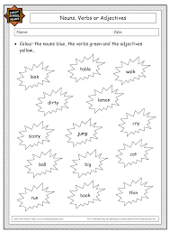 Free Adjective Worksheets Nouns Verbs Adjectives Worksheet Abitlikethis