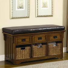 entryway furniture storage bench with baskets underneath mudroom storage seat inspiring