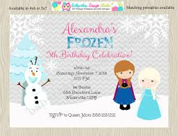 frozen birthday party invitation invite anna elsa ice