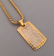 hip hop necklace charms images New dope full rhinestone iced out army charm dog tag pendant hip jpg