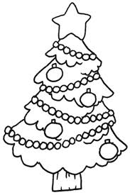 big colorless decorated x mas tree coloring pages to color