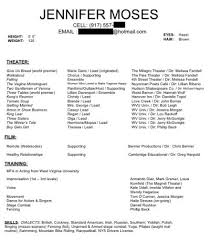 Resume For Theater Sample Of Special Skills In Resume Gallery Creawizard Com