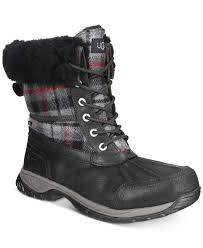 ugg sale at macys lyst ugg s butte outdoor boots in black for