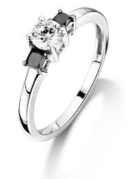 white and black diamond engagement rings white black diamond engagement ring diamondrepublic co uk