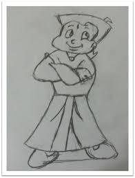 draw chota bheem cartoon step step
