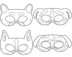 printable lizard mask template mermaid printable coloring masks fish mask puppy mask dog