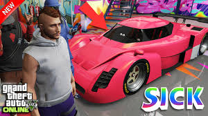 modded sports cars gta 5 online paint jobs brising red super sports car modded crew