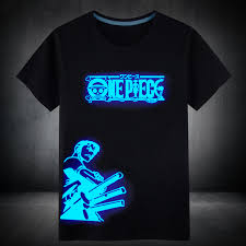 fluorescent luminous anime one piece cotton t shirt price