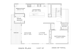 2500 sq ft floor plans contemporary 3 beds 2 5 baths 2500 sq ft plan 909 9 main floor plan