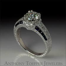 sapphire accent engagement rings platinum antique style engagement ring with and sapphire