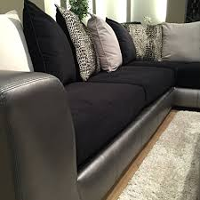 Black Microfiber Sectional Sofa Roundhill Furniture Shimmer Pewter Microfiber Sectional Sofa