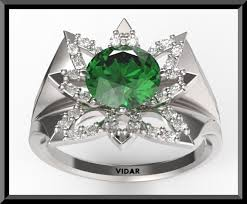 green wedding rings emerald flower engagement ring vidar jewelry unique