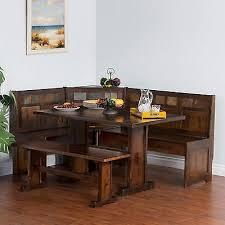 Corner Kitchen Table With Storage Bench Nook Dining Set Indiana Nook Dining Set Trestle Bench Indiana
