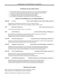 food safety manager resume trainer sample resume photo