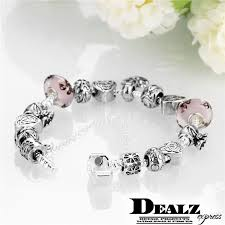 bracelet style pandora with charms images Heart pendant pandora charm bracelet 925 sterling silver plated jpg