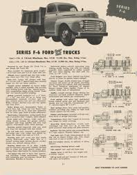 Old Ford Truck Brochures - 1950 f6 trailering dimensions ford truck enthusiasts forums