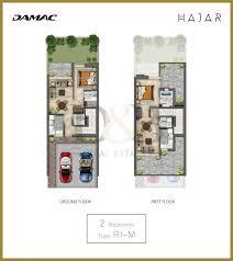 Dubai House Floor Plans Damac Hajr Stone Villas D U0026b Properties