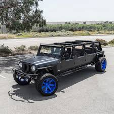 badass blue jeep there u0027s a 6 door jeep wrangler in las vegas and another in texas