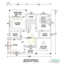 spacious 3 bhk budget home vaastu oriented layout and design 26
