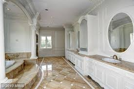 master bathroom with wainscoting u0026 drop in bathtub in potomac md
