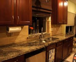 granite countertop kitchen cabinets white and brown stained