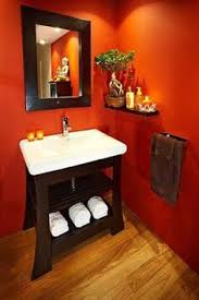 orange bathroom ideas the idea of a bold orange gold wallpaper in a small room