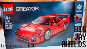 lego ferrari f40 lego ferrari f40 build youtube