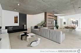 industrial home interior home with concrete interiors in republic home design