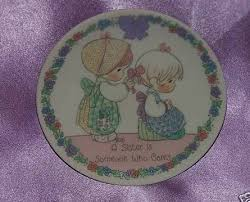 precious moments sister cares plate