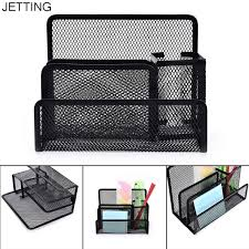 Desk Organizer Multi Functional Metal Mesh Desk Organizer Pen Holder Stationery