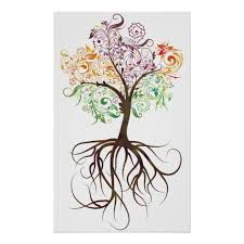 colorful tree with roots poster zazzle com