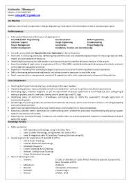 profile summary resume saichander resume