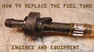 how to replace leaking fuel tank grommets on most small engines