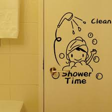 popular shower time wall decal buy cheap shower time wall decal shower time bathroom wall stickers home decor vinyl waterproof vinyl wall kids art decal 8500