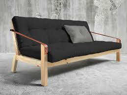 matelas de canapé convertible canapé convertible en bois avec matelas futon et accoudoirs cuir