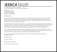 resignation in lieu of termination letter livecareer