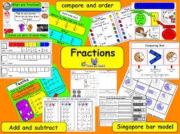 fractions ks2 including a few singapore bar model worksheets