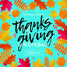 thanksgiving autumn sale poster fall discount promo shop offer