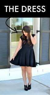one black dress three easy halloween costumes