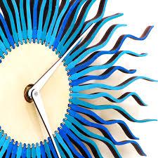 Wooden Wall Clock by Radium Ii Stylish Modern Wooden Wall Clock Ardeola Online