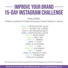 Challenge Instagram Allebasi Design Instagram Challenge Improve Your Brand