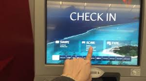united airlines check in baggage fee how to check in delta airlines kios and get the air ticket youtube