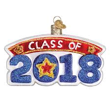world ornaments class of 2018 ornament glass