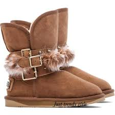 ugg womens motorcycle boots cozy fur boots for just trendy