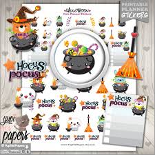 Halloween Stickers Printable by 50 Off Halloween Stickers Printable Planner Stickers Kawaii