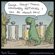 Funny T Rex Meme - t rex trying to use an urinal